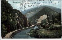 Ahrtal Rheinland-Pfalz Postkarte 1907 gelaufen Partie an der Bunte Kuh