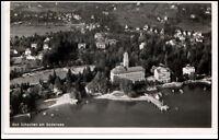 Bad Schachen Bodensee Baden-Württemberg 1953 vom Flugzeug aus Fliegeraufnahme