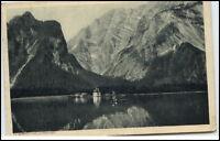 St. Bartholomä Bayern Königsee alte Ansichtskarte Alpen Berg Blick 1919 gelaufen