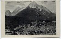 Mittenwald alte AK 1937 gelaufen mit Wetterstein Gehrenspitze Kämikopf Alpspitze