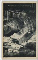 Feengrotten Saalfeld alte Ansichtskarte ~1920/30 Märchen-Dom mit Gralsburg