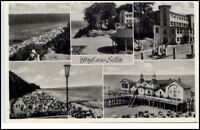 Sellin Insel Rügen DDR 5-fach Mehrbild AK 1960 Strandpartie Seebrücke Promenade