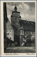 Rothenburg ob der Tauber Bayern Postkarte ~1920/30 Weisser Turm ungelaufen