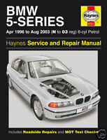 Haynes BMW 5-Series 520i 523i 525i 528i 530i 1996-2003 Manual 4151 NEW