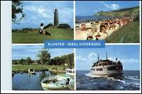 KLOSTER Insel Hiddensee DDR Mehrbild-AK ua. Leuchtturm Lighthouse u. Hafen