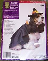 NWT PET HALLOWEEN 2 PC Witch Pet COSTUME 1 Size