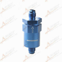 Billet Fuel Filter AN-6 AN6 6AN 30 Micron Filter Blue Aluminum Anodized