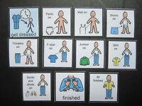 Boys Getting Dressed - Visual Aid/Communication Aid/PECS/Autism/SEN/Speech loss
