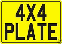 4x4 Rear Number Plate/Show/Square Reg Plate/Car/Vehicle