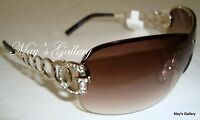 Guess  Sun Glasses Glass SunGlasses Eyewear Brown Gold Rimless   GU 6509 W NIB