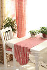 Rural Style Home Decoration Mosaic Grid Cotton Table Cloth / Cover 30cm X 150cm