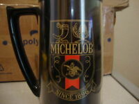 Vintage MICHELOB Beer mug thermos cup glass