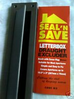Letterbox Draught Excluder & flap brown plastic with brush. Seal n Save m2