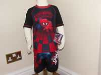 marvel ultimate Spiderman Boys' 2-piece Swim Set  Red and Black genuine marvel