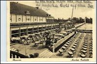 HANNOVER 1942 Dt. Reich AK Außensitz der Maschee Gaststätte Biergarten Lokal