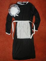 "ADULTS VICTORIAN MAID 50"" downton abbey COSTUME DRESS WAITRESS APRON MOP HAT"