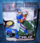 MCFARLANE 29 VICTOR CRUZ NEW YORK GIANTS BLUE JERSEY NFL FOOTBALL DEBUT FIGURE
