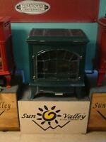Sun Valley Cast Iron Gas Stove Heater Hepplewhite Black Vent Free