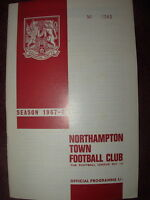 NORTHAMPTON TOWN v TRANMERE ROVERS 1967-68 DIVISION 3