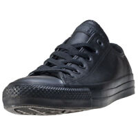 Converse All Star Leather Ox Mens Trainers Black Black New Shoes