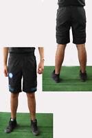 SSC Napoli Naples Kappa Pantaloncini Shorts Nero 2016 17 Woven da passeggio
