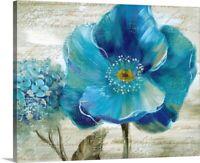 Solid-Faced Canvas Print Wall Art entitled Blue Poppy Poem II
