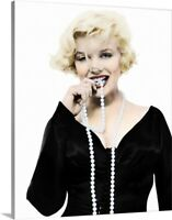 Solid-Faced Canvas Print Wall Art entitled Marilyn Monroe in Some Like It Hot -