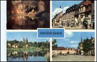 SAALFELD Saale Thüringen 4-fach Mehrbild-AK DDR ua. Blankenburger Strasse uvm.