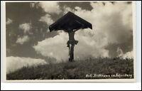 Schönberg Bayern alte Ansichtskarte ~1930/40 Partie am Feldkreuz ungelaufen