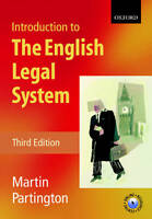 Introduction to the English Legal System, Partington, Martin, Used; Good Book