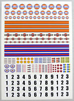 SLOT CAR SCALEXTRIC 1/32nd scale Race stickers decals