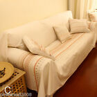Pastoral Style Candy Cotton Stripe Sofa Cloth Sofa Cover 210CM * 290CM