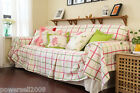 Pastoral Style Lattice Cotton Sofa Cloth 280CM Sofa Cover Cloth