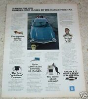 1975 ad page - Chevrolet CAMARO car automobile VINTAGE advertising ADVERT PAGE