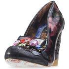 Irregular Choice Ellie Grant Femmes Chaussures Black Floral Neuf Chaussure