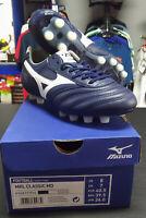 Football shoes Mizuno Scarpe da Calcio Morelia Classic MD FG Blu Vera pelle
