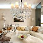 Modern Simple 8 Lights White D 70*H 60 CM Living Room Bedroom Crystal Chandelier