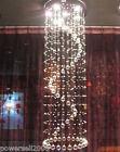 Modern Simple 6 Lights D 50*H 250 CM Villa Staircase Living Room Crystal Light