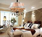 Modern Simple 6 Lights Cognac Color D 60*H46 CM Living Room Crystal Chandelier