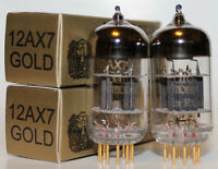 Matched Pair Electro Harmonix 12AX7/ECC83 pre-amp tubes,Gold Pin,NEW