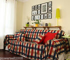European Rural Mediterranean Lattice Cloth Cotton Sofa Cloth 170CM*330CM