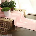 Rural Style Cotton Pink Table Cloth / Cover 0.3 m X 1.8m