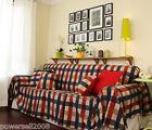 European Rural Mediterranean Lattice Cloth Cotton Sofa Cloth 210CM*220CM