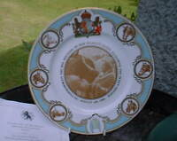 1980 plate Queen Mother's Horses for her 80th birthday