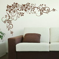 FLOWER TREE wall butterfly vine art stickers decals stencils large graphics bv1