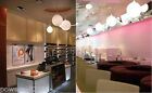 European Modern Minimalist Style Glass 1 Light Restaurant White Chandelier