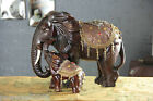XH054 European Creative Red Resin L40*W18*H30 CM Elephant Shape Decorative Gift