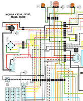s l200 nos honda cb350 cl350 cb250 cl250 color wiring diagram ebay cb350 wiring diagram at gsmx.co