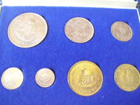 Coins South Africa 1964 - 7 coins: 2,5c, 5c, 0,5c, 1c, 10, 20c and 50c Silver