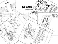 YAMAHA RD125LC 1984 12A UK PARTS LIST RD 125LC